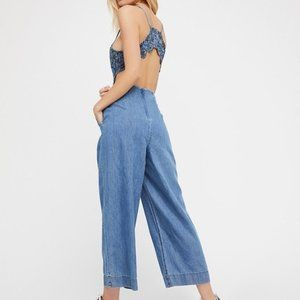 Free People Kiss Me Sweet Jumpsuit Open Back Lace